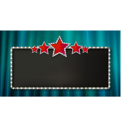 marquee banner with stars vector image