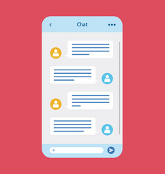 message chat app vector image