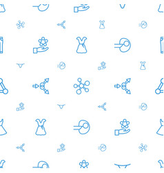 model icons pattern seamless white background vector image