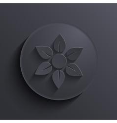 modern dark circle icon Eps10 vector image vector image