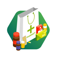 modern pharmacy and drugstore concept sale vector image