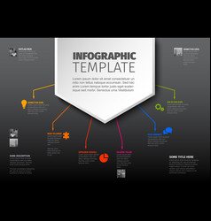 multipurpose infographic template vector image