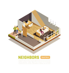Neighbors relations isometric composition vector