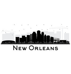 new orleans louisiana city skyline silhouette vector image