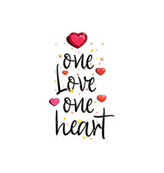 One love heart vector