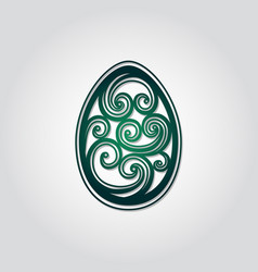 Openwork easter egg art easter egg spiral design vector