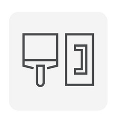 plastering tool icon vector image