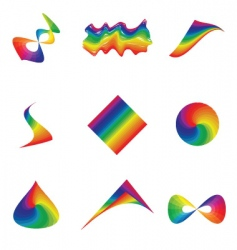 rainbow elements vector image