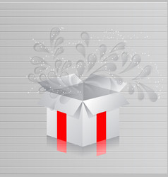 realistic white blank package cardboard box in vector image