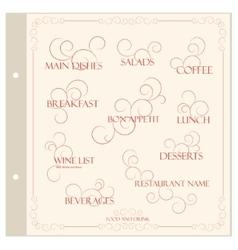 Restaurant menu design template vector image