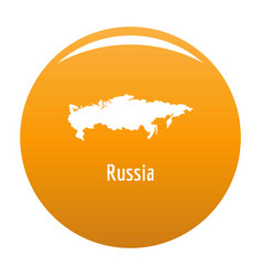 russia map in black simple vector image