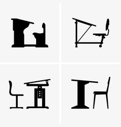 School desks vector