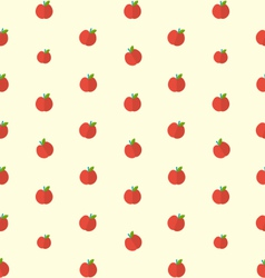 Seamless Texture with Bright Apples Food vector image