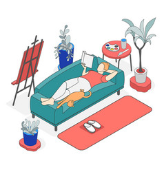 Self care concept isometric colored background vector