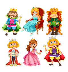 set fantasy cartoon character vector image
