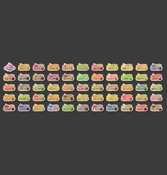 set ice cream labels vector image