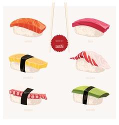 Sushi set Japanese food vector