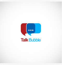 Talk bubble conversation logo vector