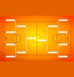 Tournament bracket template for 8 teams on orange vector