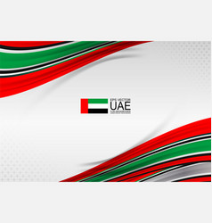 Uae flag design vector