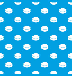 washer hockey pattern seamless blue vector image