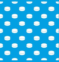 Washer hockey pattern seamless blue vector