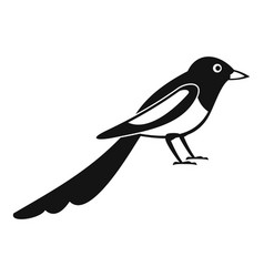 Young magpie icon simple style vector