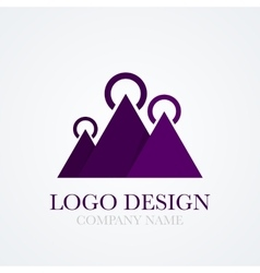 a mountains logo vector image