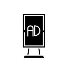 billboard advertising vertical icon vector image