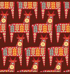 folk seamless pattern in scandinavian style vector image vector image