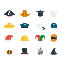Icons hat set vector image vector image