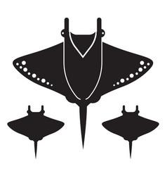 Manta ray or stingray icon or logo vector