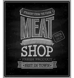 Meat shop chalkboard vector