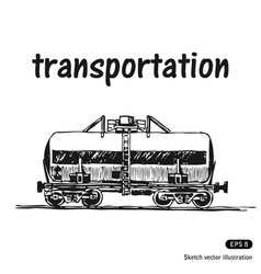 Tank car vector image