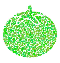 tomato vegetable mosaic of dots vector image