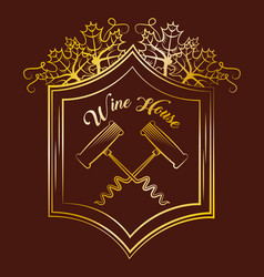 wine drink alcohol card vector image