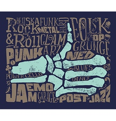 Print for T-shirt Rock music Grunge vector image