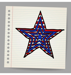 The 4th July Independence day star vector image vector image