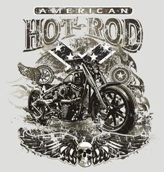 american hot rod motorcycle vector image vector image