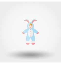 Baby dressed up as a bunny vector image