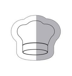 figure chef hat icon vector image