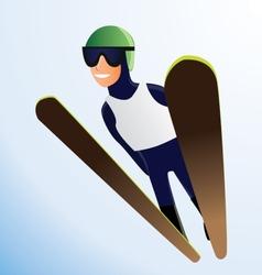 Olympic ski jumper vector