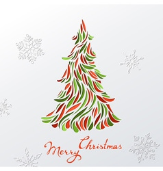 Paper christmas background vector