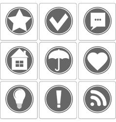 Simple Monochrome Icon vector image