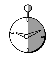 clock time business money design shadow vector image