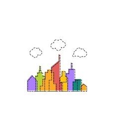 Colorful cityscape design vector image