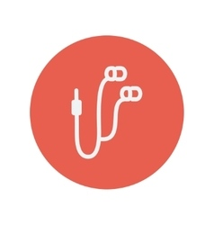 Earphone thin line icon vector image