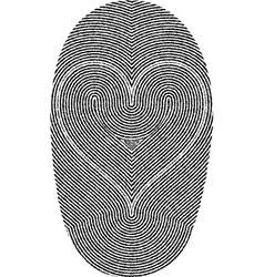 fingerprints and heart vector image
