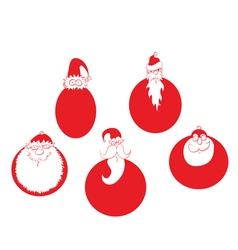 santa claus christmas baubles vector image