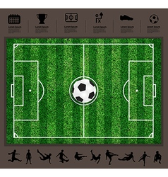 soccer ball on the field soccer Icons set vector image vector image